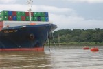PanaMax on a Mooring