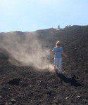 W/ Sliding - Running down Volcano Pacaya