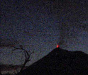 Erupting Volcano, Antigua, Guatemala
