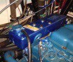 Perkins 4-236 Header Installed