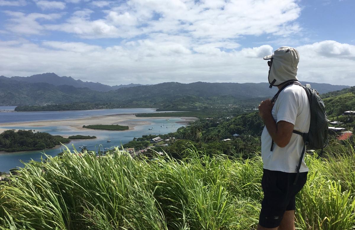 Dave overlooks Savusavu